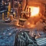 Výbuch při zakládání do pece vozíkem